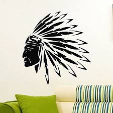 Amazon Com Wall Decal Vinyl Sticker People Native American Indian Man Tribal Decor Sb944 Indian Wall Art American Indian Tattoos American Indian Art