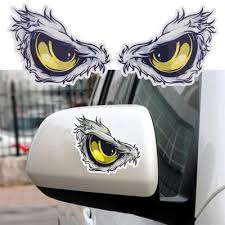 3d Eyes Car Mirror Stickers Truck Window Decal Reflective Sticker Decals Buy At A Low Prices On Joom E Commerce Platform