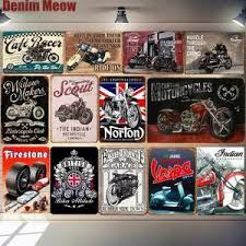 Vintage Indian Motorcycles Vinyl Decal Sticker 4254