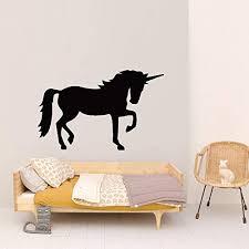 Amazon Com Wall Vinyl Sticker Unicorn Magical Creature Animal Horse Horn Girl Kids Room Car Mural Decal Art Decor Lp3370 Handmade