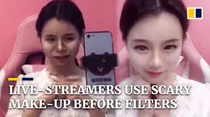 live streamers use scary make up to