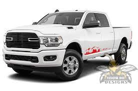 Mountain Sticker Graphics Dodge Ram Decals Bed 6 4 Crew Cab