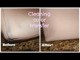 color transfer off saffiano leather