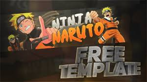 NARUTO FREE BANNER TEMPLATE [PSD] - YouTube