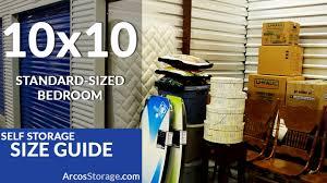 10x10 size guide self storage you