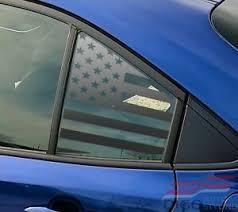 2020 Toyota Corolla Quarter Window American Flag Decal Sticker Matte Black Ebay
