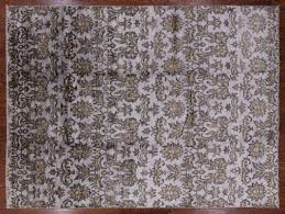 hand knotted silk area rug 9 x 12