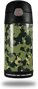 Amazon Com Skin Decal Wrap For Thermos Funtainer 12oz Bottle Wraptorcamo Old School Camouflage Camo Army Bottle Not Included By Wraptorskinz Everything Else