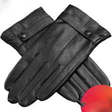 leather gloves men s winter plus