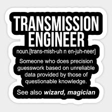 Transmission Engineer noun definition funny shirt T-Shirt - Funny  Transmission Engineer Gift - Sticker | TeePublic AU