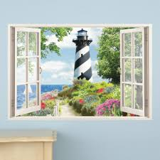Nautical Lighthouse Window Wall Decal Collections Etc