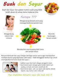 edukatif hidup sehat dengan makan buah dan sayur taupedia