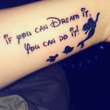little mermaid and a disney quote tattoo venice tattoo art designs