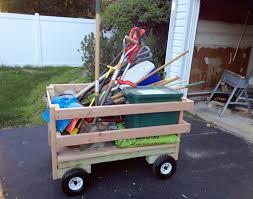 how to make a wagon wooden garden