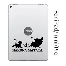 Hakuna Matata Lion King Cartoon Tablet Decal Sticker For 9 7 Ipad 7 9 Mini Ipad 10 5 11 12 9 Ipad Pro Partial Vinyl Skin Laptop Skins Aliexpress