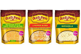 old el paso enters dairy with shredded