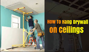how to hang drywall on the ceiling