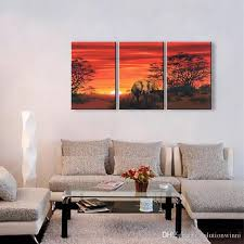 2020 3 panel wall art pictures african