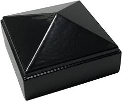 2 X 2 Aluminium Pyramid Post Cap For Metal Posts Pressure Fit Black Amazon Com