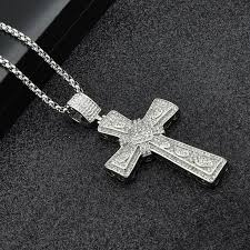 silver cross pendant necklaces