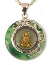 jade pendant with kuan yin inside