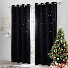 Nicetown Black Stars Kids Curtain Starry Night Sleep Enhancing Cosmic Themed Room Darkening Twinkle Space Star Curtain For Boys Outer Space Theme Room Single Panel W52 X L84 Black On Galleon Philippines