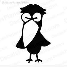 Raven Drawing Decal Vinyl Decal Sticker Wall Decal Decals Ground