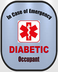 Diabetic Decal Medical Alert Safety Sticker Type 2 Type 1 Safety Awareness Products