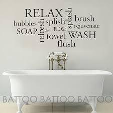 Amazon Com Battoo Bathroom Wall Decor Bathroom Wall Decal Bathroom Rules Wash Brush Floss Flush Bathroom Sign Bathroom Wall Art Stickers Vinyl Lettering Black 30 Wx13 6 H Furniture Decor