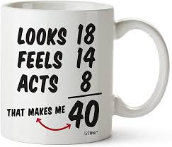women forty years old men gift mugs