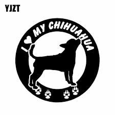 Yjzt 15cm 15cm I Love My Chihuahua Dog Round Car Truck Windows Car Sticker Black Silver C2 3190 Car Sticker Stickers Blacksilver Car Sticker Aliexpress