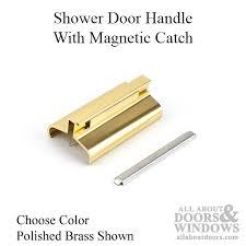 shower door handle w magnetic catch