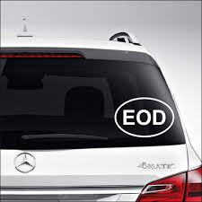 Amazon Com Eod Explosive Ordnance Army Military Car Truck Motorcycle Windows Bumper Wall Decor Vinyl Decal Sticker Size 8 Inch 20 Cm Wide Color Gloss White