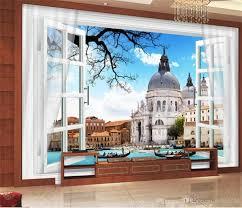 العرف حجم 3d صور خلفيات غرفة المعيشة جدارية ويندوز المدن الأوروبية