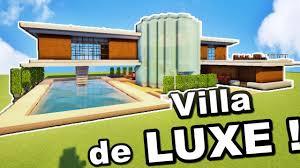 minecraft tuto grande villa de luxe