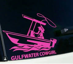Gwc Cowgirl Window Decal Gulfwater Cowboy Country And Fishing Apparel