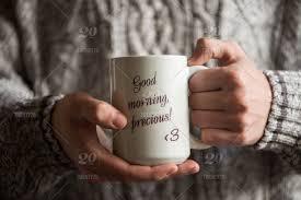 hot winter beverages good morning precious human hands
