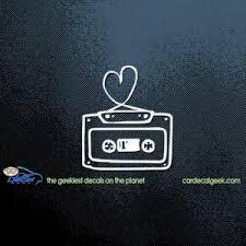 80 S Cassette Tape Love Heart Car Window Decal Sticker Graphic