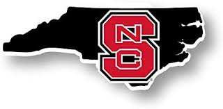 Amazon Com Nc State Wolfpack 4 Inch State Shape Vinyl Decal Sticker Kitchen Dining