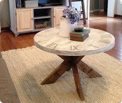 x base clock coffee table