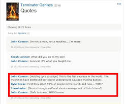 the best thing about terminator genisys might be its fake imdb