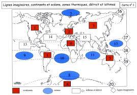 Carte 1 : les grands repères terrestres (Mme Chuzel - Collège de Frontenex)