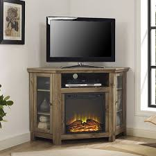 corner tv stand with electric fireplace
