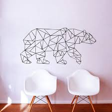 Cute Animal Wall Sticker Polar Bear Geometric Art Wall Decal For Living Room Bedroom Home Decoration Personalized Wall Stickers Polka Dot Wall Decals From Onlybrand 10 49 Dhgate Com