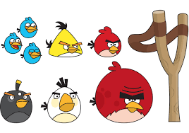 Angry Birds with Slingshot - Download Free Vectors, Clipart ...