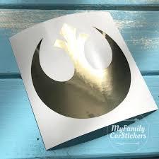 Gold Mirror Star Wars Rebel Alliance Decal Rebel Alliance Etsy