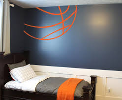 Basketball Lines Basketball Themed Bedroom Basketball Room Basketball Theme Room