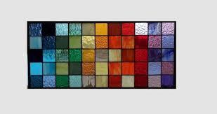stained glass window panel geometric