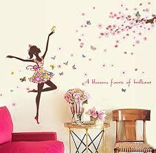 Bibitime Vinyl Wall Decal Butterfly Girl Dancing Under Tr Https Www Amazon Com Dp B0752brkdb Ref Wall Decor Decals Girls Wall Decals Wall Stickers Bedroom