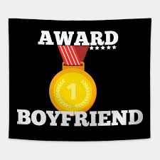award trophy best boyfriend i love my